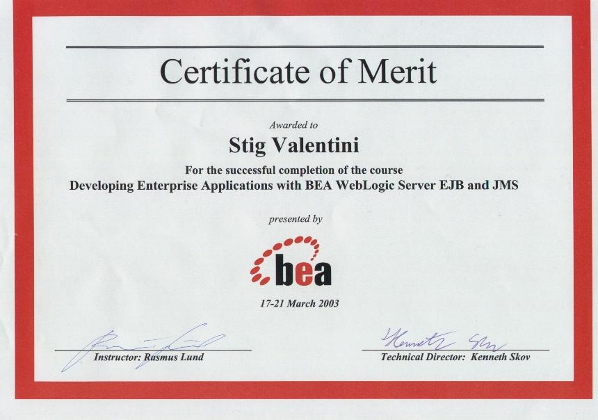 Developing Enterprise Applications with BEA Weblogic Server EJB and JMS